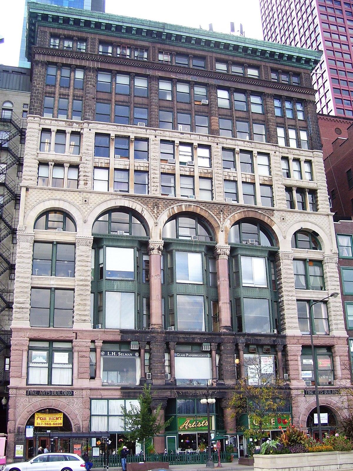 Fine Arts Building (Chicago) - Wikipedia