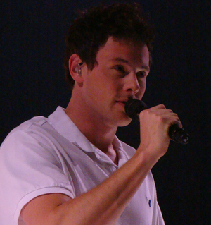 English: Cory Monteith as Finn Hudson on the G...