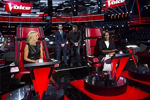 The Voice (U.S. TV series) - First Lady Michelle Obama and Dr. Jill Biden record social media videos with Adam Levine and Blake Shelton prior to the kick-off of the 5th anniversary of their Joining Forces initiative, May 2016