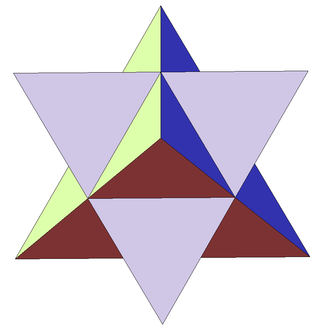 Stellation - Image: First stellation of octahedron