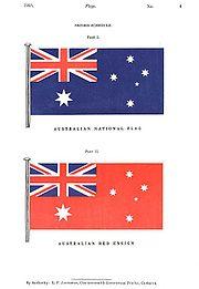 Drapeau de l 39 australie wikip dia - Drapeau rouge avec drapeau anglais ...