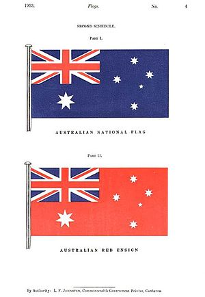 A page from the Flags Act 1953, from the Colle...