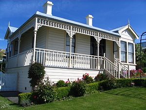 James Fletcher (industrialist) - Fletcher House in Broad Bay, Dunedin, in 2008. This was the first house built by Fletcher (with Albert Morris). Constructed in 1909 it was restored in 1992.