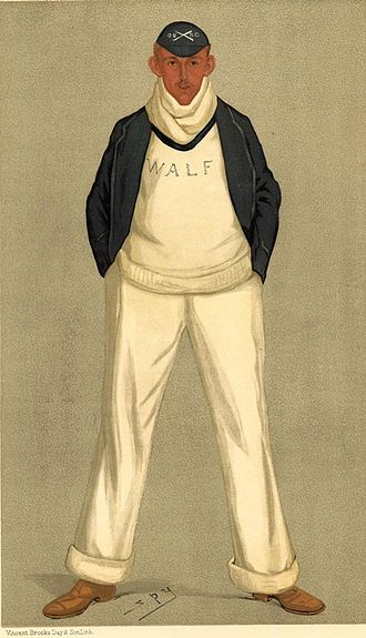 The Boat Race 2019 - An 1893 Vanity Fair caricature of William Fletcher, after whom one of the Oxford trial boats was named