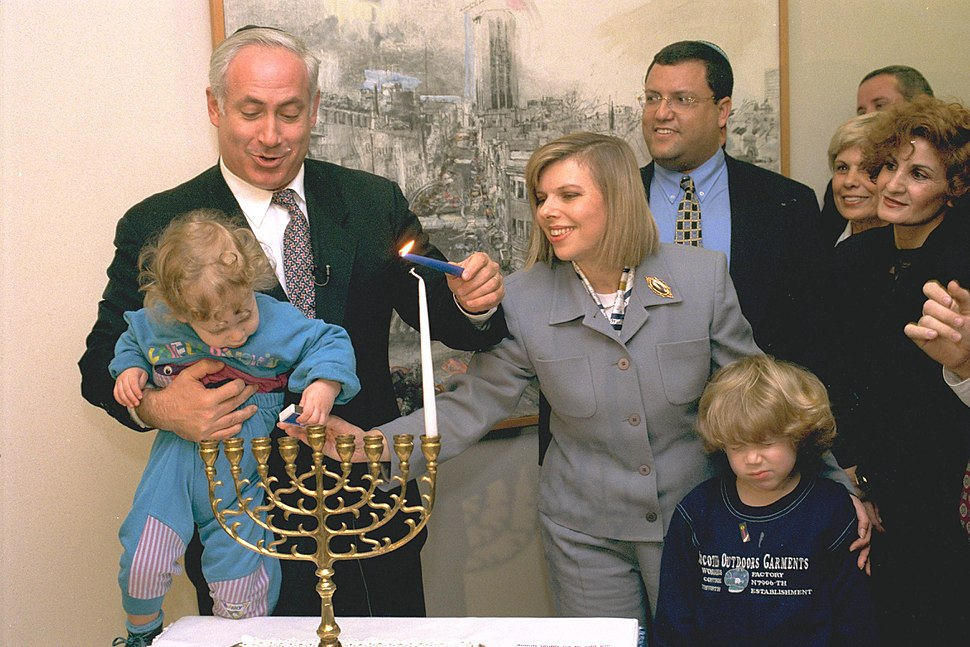 Flickr - Government Press Office (GPO) - P.M. BENJAMIN NETANYAHU LIGHTING HANUKA CANDLES WITH HIS WIFE AND SONS