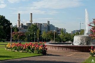 Fossil-fuel burning power plant in Washington, DC