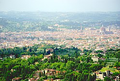 The hills of Fiesole surrounding Florence