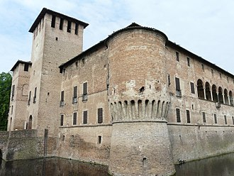 Rocca Sanvitale - View of the moated castle.