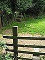 Footpath stile and gate at Clai Mawr - geograph.org.uk - 956752.jpg