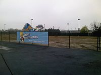 The Former Site Ofe Shuttle America May 2010 And Site For Riptide Bay Water Park Expansion