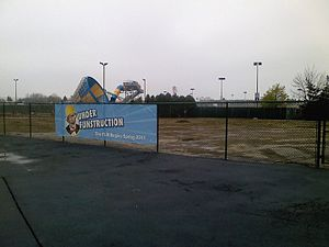 Space Shuttle America - The former site in May 2010 before the Riptide Bay water park expansion