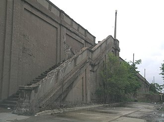 Fort Street–Pleasant Street and Norfolk & Western Railroad Viaduct - Image: Fort Street Pleasant St Bridge Stairs