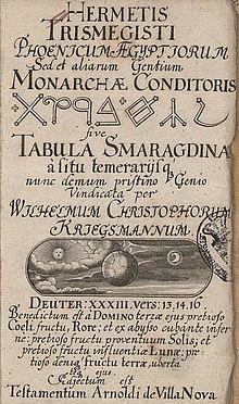 Resultado de imagen de las autenticas tablas de esmeralda