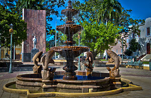 Fountain in Fajardo, Puerto Rico