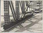 Four trains on the Harbour Bridge, 1932 (8283748522).jpg