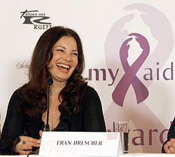 Drescher at a press conference for the Austrian charity Dancer Against Cancer, 2010