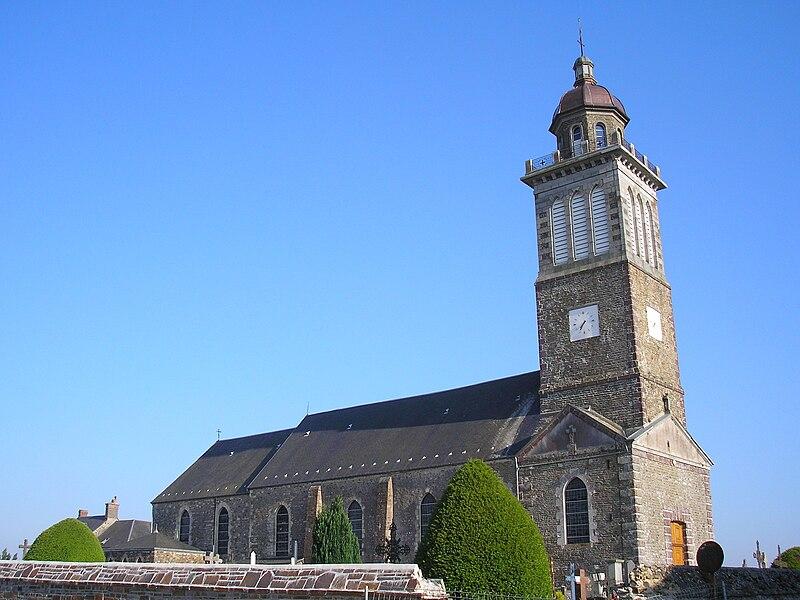 Saint-Amand (Normandie, France). L'église.