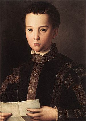 Francesco I de' Medici, Grand Duke of Tuscany - Francesco I of Tuscany as a young boy; painting by Bronzino