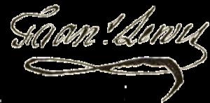 Francis Lewis - Image: Francis Lewis signature