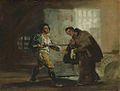 Francisco de Goya - Friar Pedro Offers Shoes to El Maragato and Prepares to Push Aside His Gun.jpg