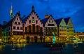 Frankfurt, Römer (Rathaus) auf dem Römerberg -- Frankfurt, Roemer (city hall) on the Roemer Hill (13552663995).jpg