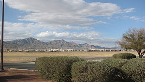 Franklin Mountains (Texas) - Image: Franklin Mountains,El Paso,as Seen From Ft Bliss