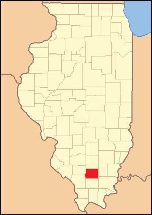 Franklin County, Illinois - Image: Franklin County Illinois 1839