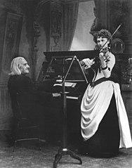 Franz Liszt und die Violinistin Armah Senkrah 1855