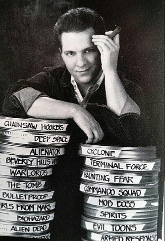 Fred Olen Ray - Fred Olen Ray with his films - 1992