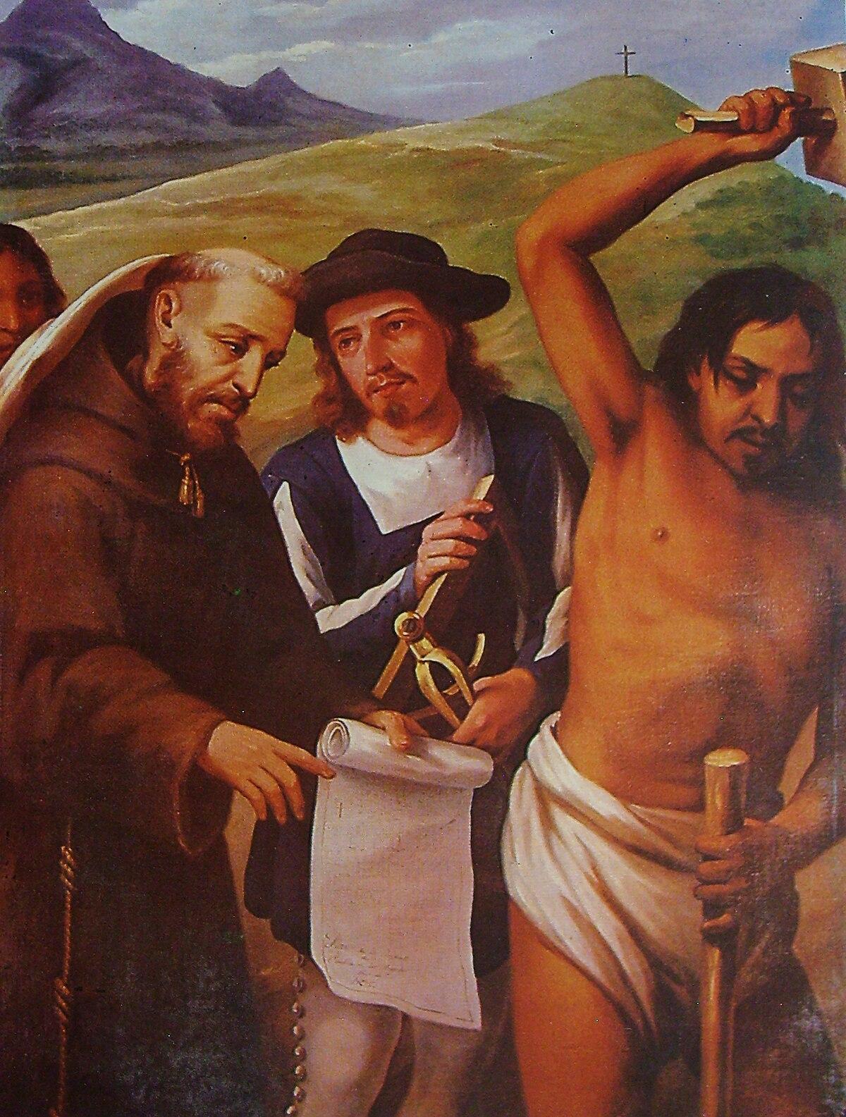 Pintura en óleo mostrando la Fundación de Puebla, de las diez cosas que todos deben saber de Puebla