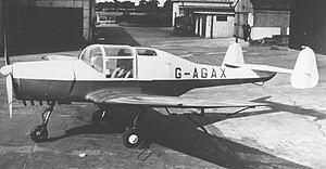 General Aircraft Limited - GAL.42 Cygnet II G-AGAX, March 1955