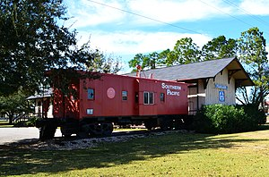 Gulf, Colorado and Santa Fe Railway - GCSF train depot, Pearland, Texas