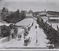 GENERAL VIEW OF JERUSALEM, TAKEN FROM JAFFA STREET LOOKING TOWARDS THE OLD CITY OF JERUSALEM. (COURTESY OF AMERICAN COLONY) רחוב יפו בירושלים.D826-111.jpg