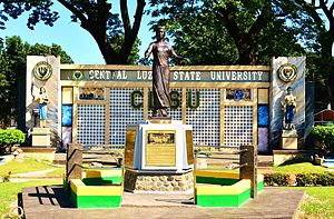 Central Luzon State University - CLSU main gate