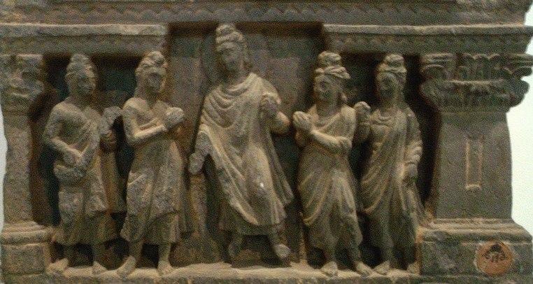Gandhara Buddha scene