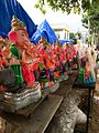 Ganesh Murti Images - A set of colorful Ganesh idols for sale.jpg