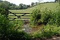 Gate and Stream, near Hay Lake Mill - geograph.org.uk - 184071.jpg