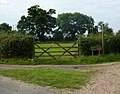 Gate by lane corner - geograph.org.uk - 1424224.jpg