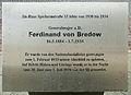 Gedenktafel Spichernstr 15 (Wilmd) Ferdinand von Bredow.JPG