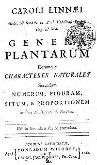 Genera Plantarum cover