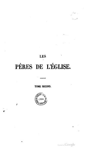 File:Genoude - Les Pères de l'Eglise, vol. 2.djvu