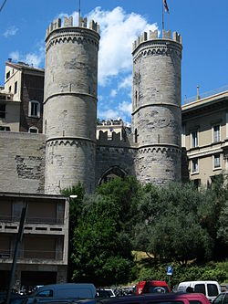 Medieval gates of Genoa is a rare survival of the city's golden age and its best known landmark.