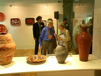 Geoffrey Eastop - Geoffrey Eastop at an exhibition of his work at the River and Rowing Museum, Henley-on-Thames, England, in 2005.