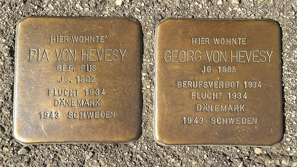 Georg und Pia von Hevesy Stolpersteine