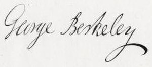 George Berkeley - Image: George Berkeley signature
