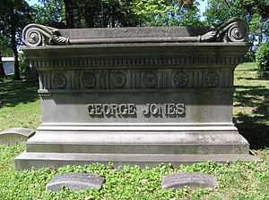 George Jones (publisher) - The gravesite of George Jones