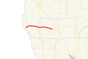 Georgia State Route 273 - Image: Georgia state route 273 map
