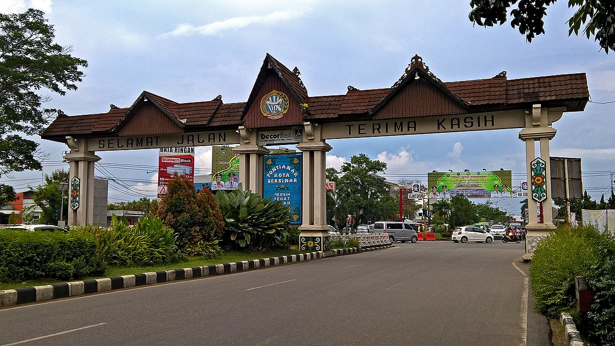 File Gerbang Batas Kota Pontianak Jpg Wikimedia Commons