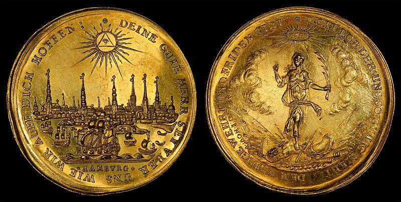Germany-Hamburg-1679-Half Bankportugal%C3%B6ser-5 ducats.jpg