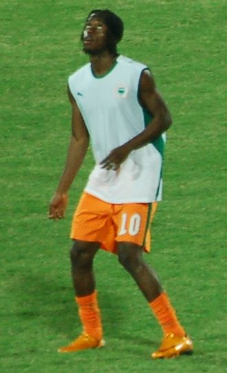 Gervinho - Gervinho warming up before a match at the 2008 Africa Cup of Nations.